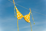 Yellow Polka Dot Bikini poster