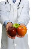 Doctor encouraging Apples poster