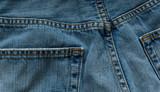 Denim blue jeans poster