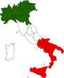 Italia cartina confini regionali