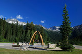 Arch and mountain, rogers pass, british Columbia poster
