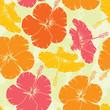 roleta: Hibiscus seamless pattern, vector