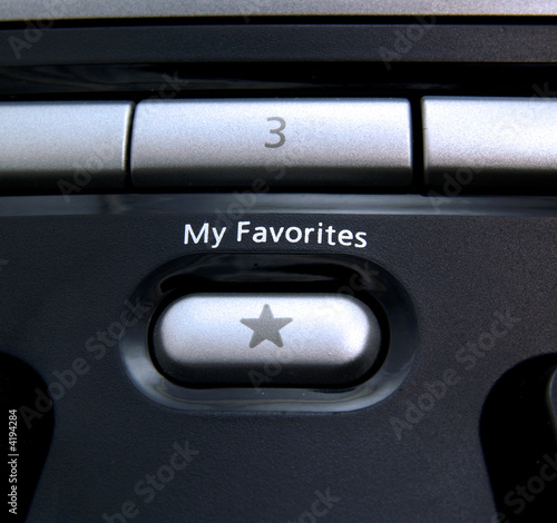 Favorites button on computer keyboard