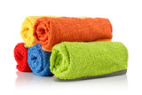 Fototapety Multicolour towels rolls