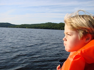 Young Boy Boating