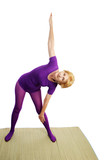 Senior Yoga - Triangle Pose poster