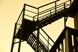 Antique Fire escape at Sunset poster