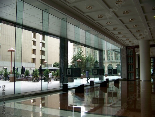 Interior of an office building