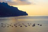 alba sul mare di Minori sulla costiera amalfitana poster