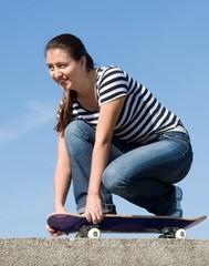 girl on a skateboard