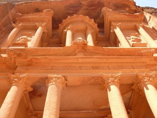 Treasury, Al-Khazneh, facade, close up, Petra, Jordan