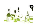 green bottles costing on rack poster