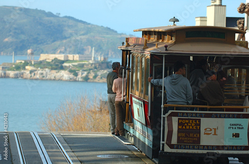 canvas print picture San Francisco cable car
