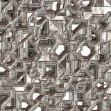 Illustration of shiny ornamental decorative square surface poster