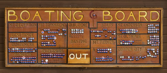 Boating Board At Scout Camp