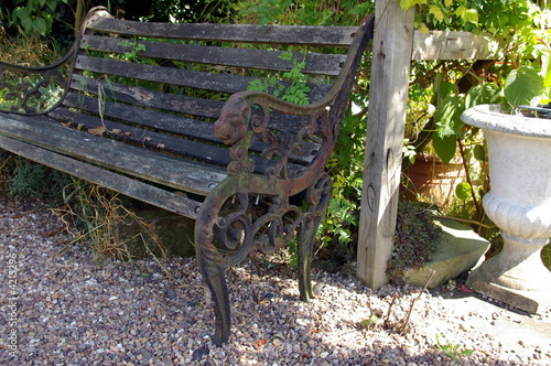 Outdoor Bench Seating on Antique Garden Bench Seat    Michmac  4215296   See Portfolio