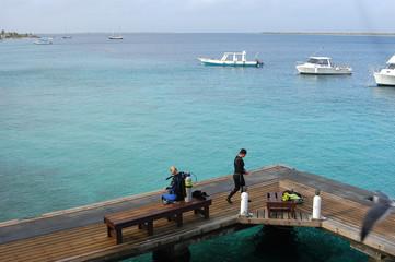 Scuba divers, Bonaire.