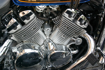 motorcycle engine closeup
