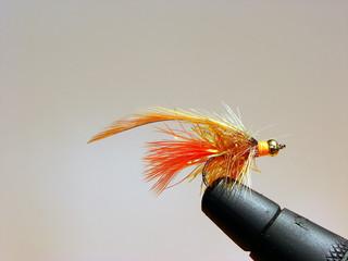 Hand Tied Orange Flashy Fly Fishing Fly