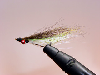 Hand Tied Olive, Black and Silver Minnow Fly Fishing  Fly