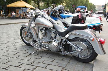 Motorcycle silver
