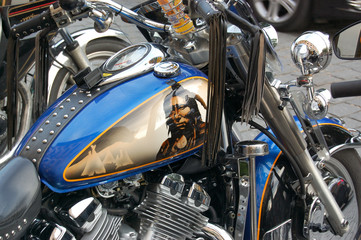 American indian on motorcycle
