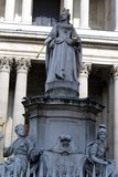 Statue of Queen Anne carrying symbols of the monarch. poster
