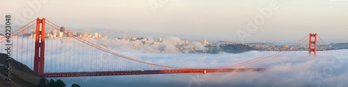 Golden Gate Bridge and San Francisco panorama