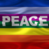 Flag - Peace poster