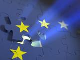 European union puzzle game theme poster