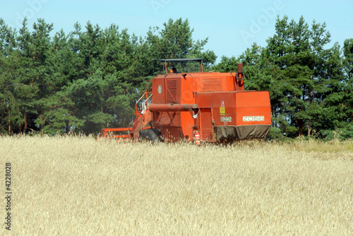Poster Combine Harvester