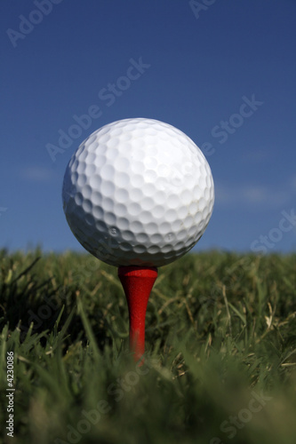 Golf Ball & Red Tee