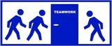 schild teamwork poster