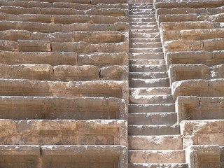 Close up of steps, stairway, amphitheatre, future
