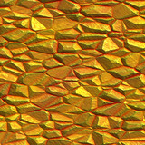 Gold colored mineral rock poster