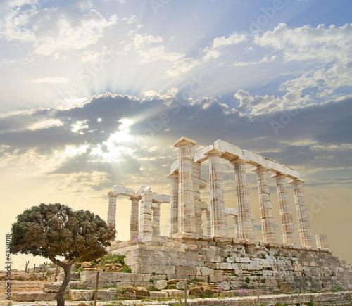 Deurstickers Athene Poseidon Temple