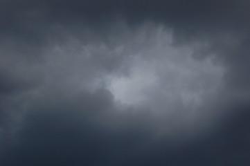 Dark thunderous clouds