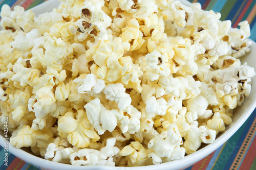 Closeup of a bowl of popcorn