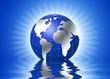 3d globe, global warming