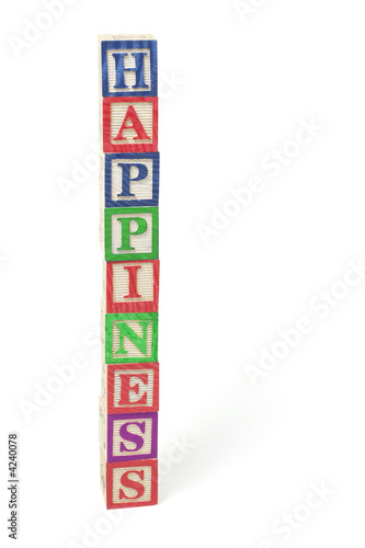 Alphabet Blocks - Happiness