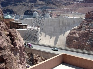 Hoover Dam - parking lot view 1