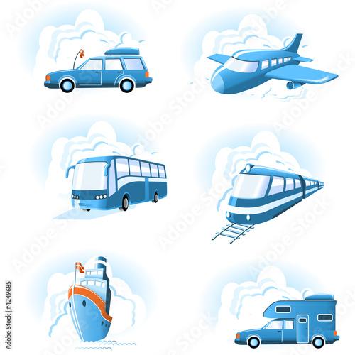 Ikony transportu i podróży