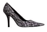 an elegant shoe on high heel poster