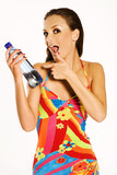 girl with mineral water poster