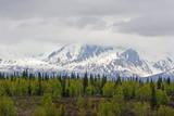 Snow melting on Alaska Range poster