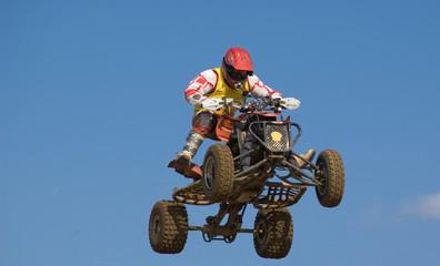 Quadbike jumping really high