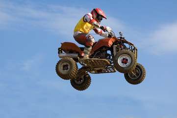 Quadbike jumping really high