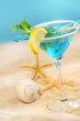 Blue tropical summer drink