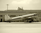Classic propeller airplane DC-3 poster