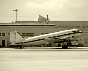 Classic propeller airplane DC-3